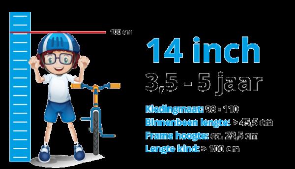 Kinderfietsen 14 inch