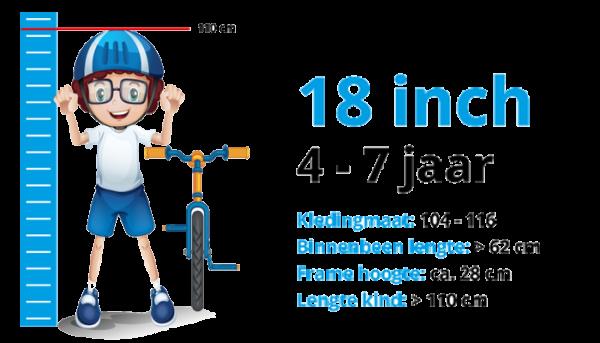 Kinderfietsen 18 inch